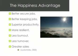 Shawn Achor Benefits of Happiness Advantage graphic